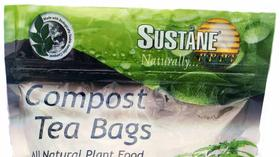 Compost tea: Turkey litter-based compost tea bags naturally feed your soil and plants