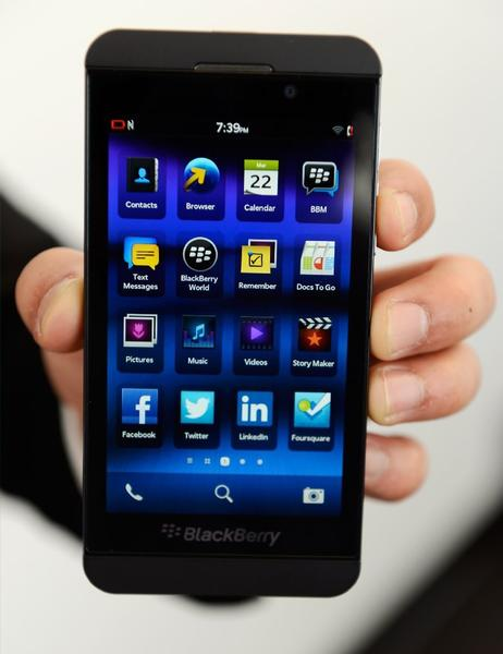 BlackBerry shares tumbled after a downgrade by Goldman Sachs.