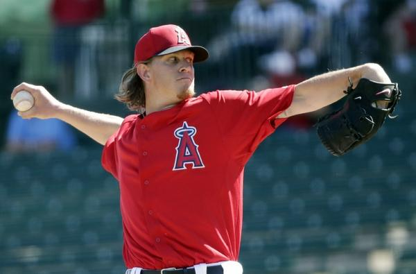 Jered Weaver remains on track to start the Angels' season opener.