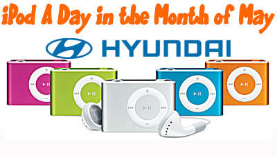 Win an iPod A Day with Bob Rohrman Hyundai