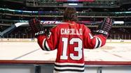 Blackhawks left winger Daniel Carcillo has been enjoying checking both opposing players and his own teammates on the boards this season.