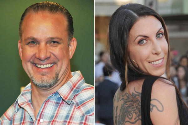 Jesse James, left, and new wife Alexis DeJoria.