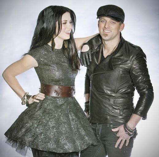 Thompson Square, the husband-and-wife duo of Keifer and Shawna Thompson.