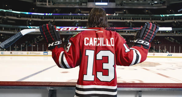 Daniel Carcillo is both a Blackhawks enforcer and the team hipster.