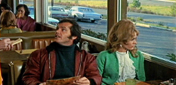 "Karen Black, right, with Jack Nicholson and Lorna Thayer in the 1970 drama ""Five Easy Pieces."""