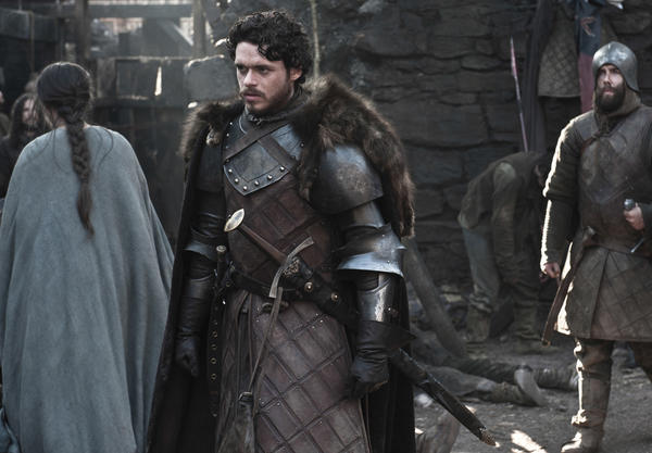 "Richard Madden plays Robb Stark in the season 3 premiere of HBO's ""Game of Thrones."""