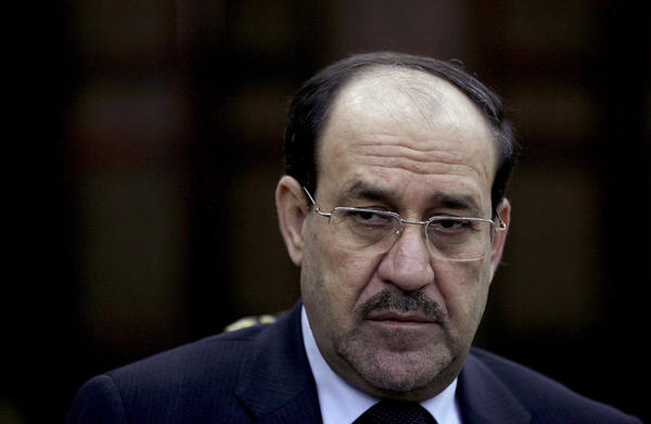 Iraq's Prime Minister Nouri Maliki listens to a question during an interview with The Associated Press in Baghdad, Iraq.