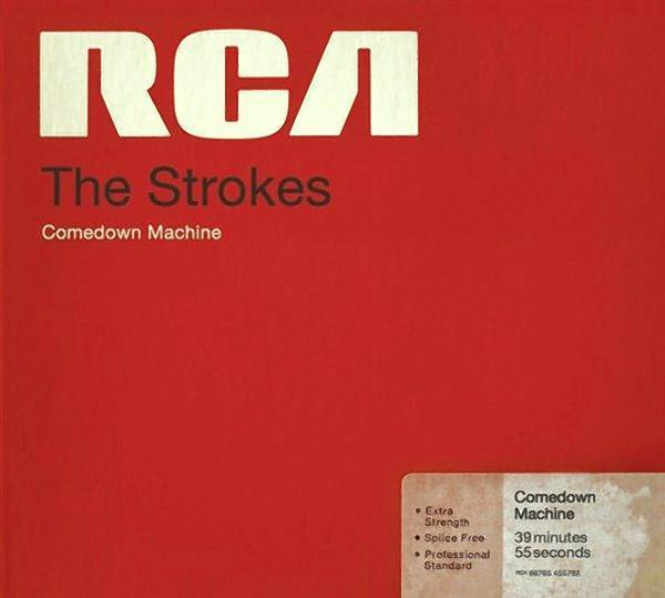"""The CD cover for """"Comedown Machine, by the Strokes."""