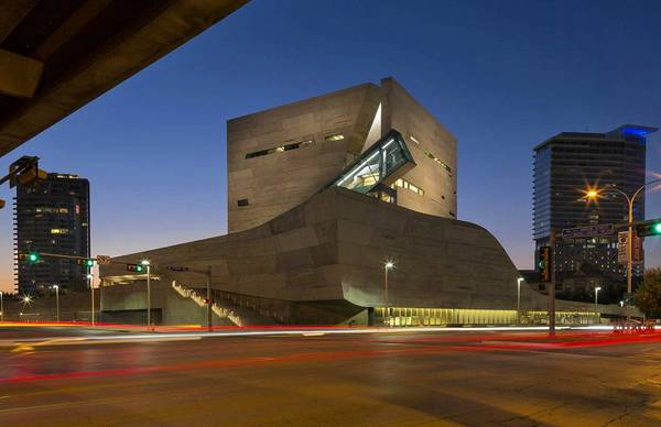 The Perot Museum in Dallas uses a frenzy of forms.
