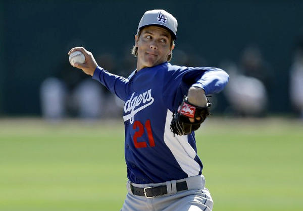 Dodgers' Zack Greinke pitches against the Chicago White Sox earlier this spring.