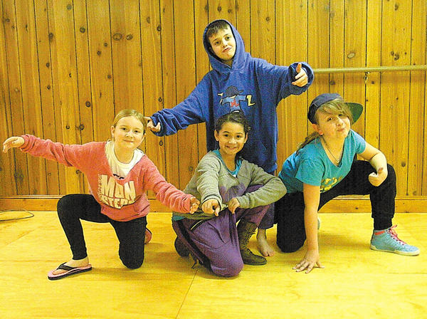 Students from Dancin' Time Studios in Hagerstown who took part in the Monsters of HipHop Convention included, from left, Kailee Barnhart, Judson Rand, Erianna Schleigh and Jada Hart. Not pictured is Ella Ravotta.