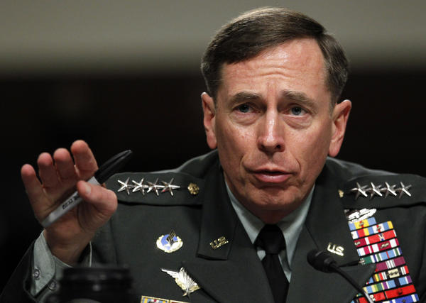 Gen. David Petraeus testifies before the Senate Armed Services Committee on June 29, 2012.