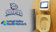 IronPigs video game urinal