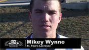 VIDEO Varsity Q and A with Mikey Wynne of St. Paul's School for Boy's lacrosse