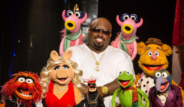 "Recording artist Cee Lo Green hangs out with the Muppets for a 2012 holiday special, ""Cee Lo's Magic Moment,"" which ran on the TV Guide Network."