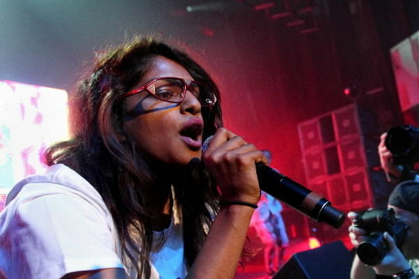 M.I.A. performs at the Vic Theatre in Chicago in 2010.