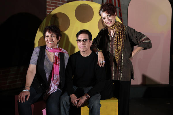 "Theresa Chavez, Los Lobos' Louie Perez and Rose Portillo, co-creators of the musical ""Evangeline, the Queen of Make Believe,"" which will be staged again on March 27 and April 17."