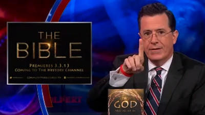 Video: Stephen Colbert slams 'The Bible' miniseries