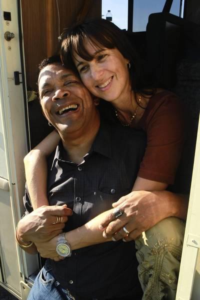 Chicago blues master Sugar Blue and his wife Ilaria Lantieri.
