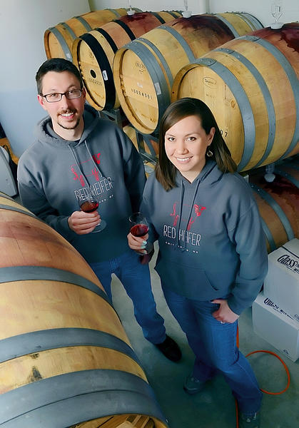 Kevin and Yvonne Ford are the owners and sole employees of Red Heifer Winery, near Smithsburg.
