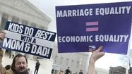 Gay marriage: Battle of the signs at the Supreme Court