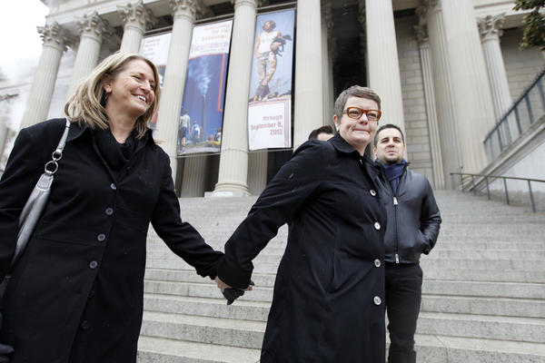 Sandy Stier, left, and Kris Perry of Berkeley, plaintiffs in the Proposition 8 case.