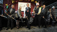 Dignitaries Break Ground