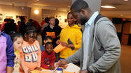 Former Maryland standout Moise Fokou was back in College Park today for a charity cooking event.
