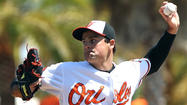 SARASOTA, Fla. — Standing on the mound at Ed Smith Stadium on Monday afternoon, with 30 mph winds swirling around him and ESPN cameras capturing his every move, Orioles left-hander T.J. McFarland was the perfect picture of calm.