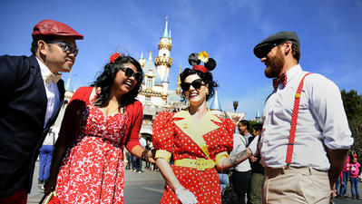 On Dapper Day at Disneyland, it's cool not to be casual
