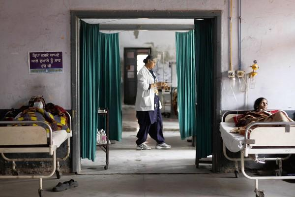 Patients undergo treatment at a government-run tuberculosis hospital in Amritsar. India has set a goal of providing free universal healthcare by 2017 to its 1.2 billion citizens, about 70% of whom live rurally.