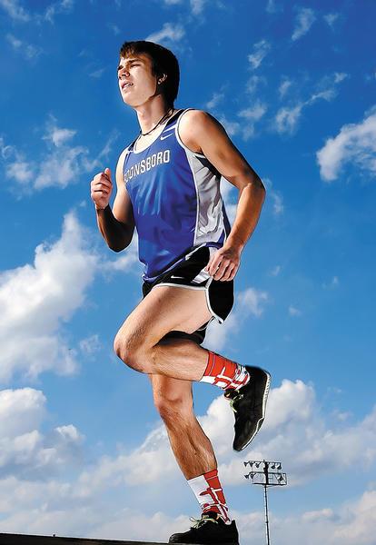 Boonsboro senior Josh Testa is The Herald-Mail's 2012-13 Herald-Mail Washington County Boys Indoor Track & Field Athlete of the Year.