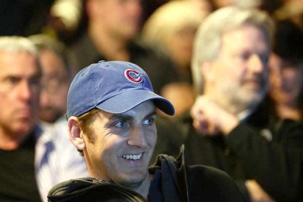 Lakeview resident Brian Gustavson attends an annual meeting for Wrigleyville neighbors held by Cubs and city officials on Tuesday.