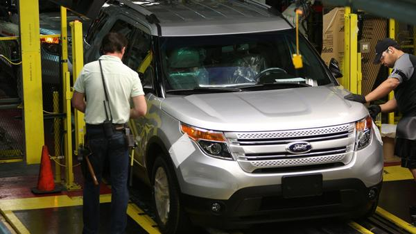 A 2012 Explorer is checked for fit and finish at the Ford plant on Torrence Avenue in Chicago June 2, 2011.