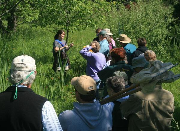 Jennifer Gelb with Petoskey's Tip of the Mitt Watershed Council leads a wetland ecology class during Emmet Conservation District's master naturalist program.