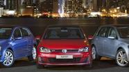 The U.S. version of the redesigned Volkswagen Golf -- a car already tooling around Europe -- will arrive as a 2015 model with three turbocharged engines, two gas and one diesel, VW announced Wednesday at the New York International Auto Show.