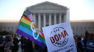 The day after hearing arguments over the constitutionality of California's ban on same-sex marriage, the Supreme Court will continue to wade into the issue of gay rights Wednesday as it hears a challenge to the federal Defense of Marriage Act.