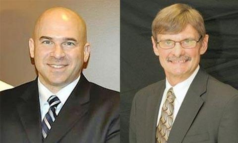 Frank Bart, left, is running against incumbent Mark Knigge to be the mayor of Wauconda.
