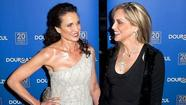 Sharon Stone, Andie MacDowell face off in river boat christening