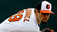 SARASOTA, Fla. -- In his final spring outing, Orioles right-hander Jason Hammel, who will likely be the team's Opening Day starter, threw five innings against the Tampa Bay Rays' Single-A minor leaguers on the back fields of Ed Smith Stadium.