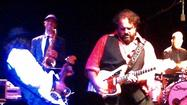 "Music doesn't get much more profoundly festive than what <a href=""http://www.themavericksband.com/"">the Mavericks</a> delivered Tuesday night at the El Rey, the L.A. stop on a tour supporting the group's reunion album, ""In Time."""