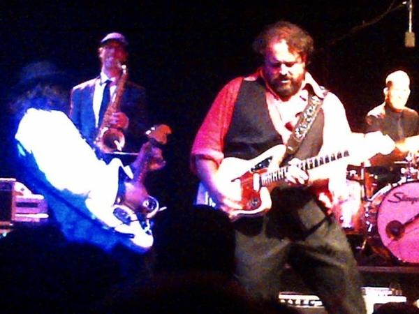 The Mavericks, with guitarist and lead singer Raul Malo in the foreground, played for nearly 2 1/2 hours on March 26 at the El Rey Theatre in Los Angeles.