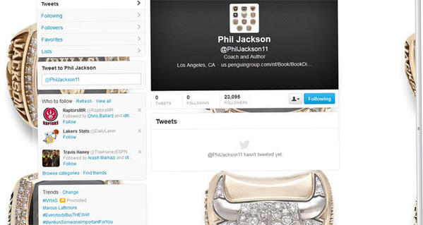 Evidently, Phil Jackson has had a change of heart about Twitter.