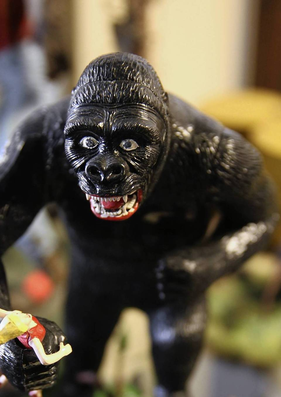 A King Kong figure is seen at Horrorbles, a horror shop in Berwyn.