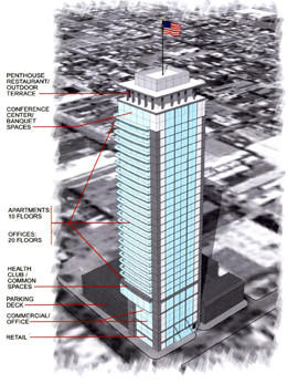 Allentown developer Bruce Loch is planning the Lehigh Valley's tallest building at Ninth and Walnut streets in Allentown.
