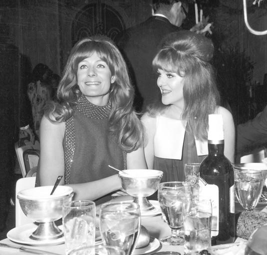 Sisters Vanessa, left, and Lynn Redgrave attend a post–Oscar party in 1967.