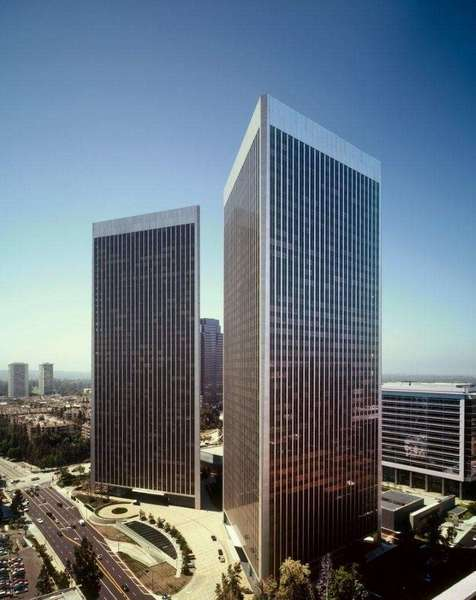 The Century Plaza Towers in Century City were built in the 1970s.