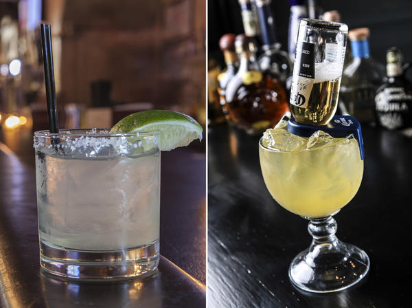 High Noon Saloon's margarita (left) and Ay Chiwowa's beer-ita (right)