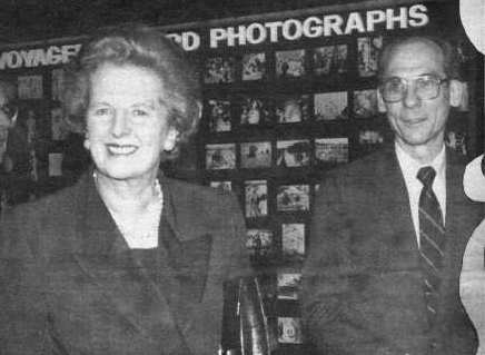 Margaret Thatcher, the former prime minister of Great Britain, visited JPL in La Canada Flintridge in early February 1991.