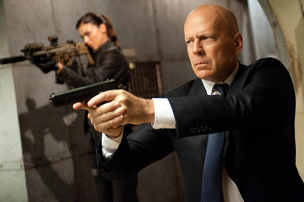 Adrianne Palicki, left, as Jaye and Bruce Willis as General Joe Colton.